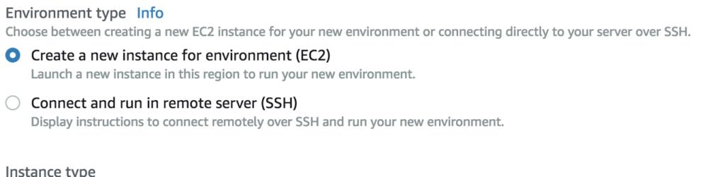 Environment type